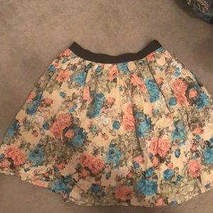 NWOT Anthropologie Floral mini skirt